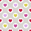 Seamless heart geometric pattern