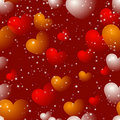 Seamless Heart Pattern Stock Photography