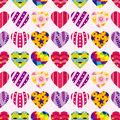 Seamless heart pattern Royalty Free Stock Images