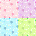 Seamless heart pattern for backgrounds / vector Royalty Free Stock Photography