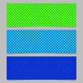 Seamless heart pattern banner background set - rectangle vector graphics