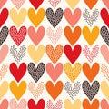 Seamless heart pattern Royalty Free Stock Photo