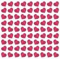 Seamless heart pattern paper art
