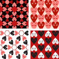Seamless heart pattern set abstract background can be used for wallpaper fills web page background surface Royalty Free Stock Photography