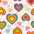 Seamless heart pattern. Valentine's Day Stock Photos