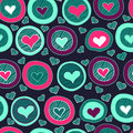 Seamless heart pattern for valentine s day background Royalty Free Stock Image