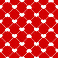 Seamless heart pattern vector on red background Royalty Free Stock Photography
