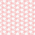 Seamless hearted pattern cute pink Royalty Free Stock Photography