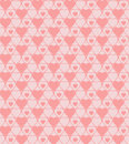 Seamless hearted patterns cute pink pattern Royalty Free Stock Images