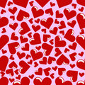Seamless Hearts Background Stock Photo