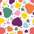Seamless hearts background in colours pantone Royalty Free Stock Photos