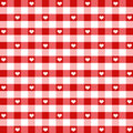 Seamless Hearts & Gingham Stock Image