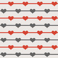 Seamless Hearts Pattern Stock Images