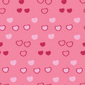 Seamless hearts pattern Stock Photo