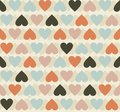 Seamless hearts pattern retro background Royalty Free Stock Photos