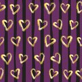 Seamless hearts Pattern. Valentines day background.