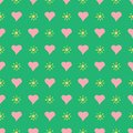 Seamless hearts pattern. Vector repeating texture. Valentines day or wedding decoration
