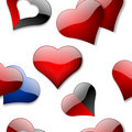Seamless hearts wallpaper Stock Photo