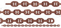 Seamless heavy duty rust chain Royalty Free Stock Photo