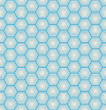 Seamless hexagon background blue on paper Royalty Free Stock Photos