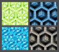 Seamless hexagon cube background texture Stock Photo