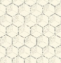 Seamless Hexagon Monochrome Wallpaper. Chaotic Pixel Background. Royalty Free Stock Photo
