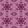 Seamless hexagon ornaments pink violet black Royalty Free Stock Photo