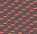 Seamless hexagonal geometric pattern - vector eps8