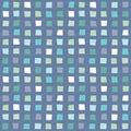 Seamless hipster geometric pattern aqua blue navy
