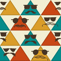 Seamless hipster pattern vintage style Royalty Free Stock Photos