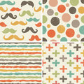 Title: Seamless hipster patterns in retro colors