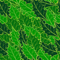 Seamless holly leaf pattern Royalty Free Stock Photo
