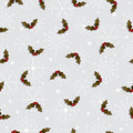 Seamless holly pattern Stock Photo