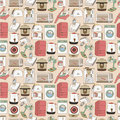 Seamless home appliances pattern Royalty Free Stock Images