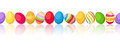 Seamless horizontal background with colorful easte vector easter eggs Stock Image