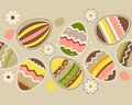 Seamless horizontal easter pattern with eggs Royalty Free Stock Photography
