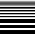 Seamless Horizontal Stripe Pattern. Vector Black and White Backg
