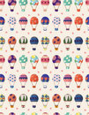 Seamless Hot air balloon pattern Royalty Free Stock Photos