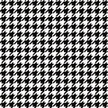 Seamless houndstooth black and white pattern background image Royalty Free Stock Photo
