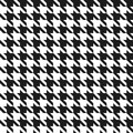 Seamless houndstooth pattern black and white Stock Photos
