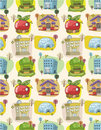 Seamless house pattern Royalty Free Stock Photo