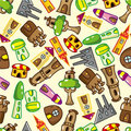 Seamless house pattern Royalty Free Stock Photography