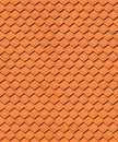 Seamless house roof texture made of ceramic tiles Stock Photos