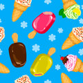 Seamless Ice cream pattern in  Royalty Free Stock Image