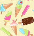 Seamless ice cream pattern Stock Photography