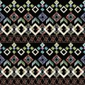 Seamless Ikat ethnic Pattern. Abstract background for textile design, Wallpaper, surface textures.