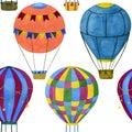 Seamless illustration of air balloons