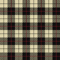 Seamless illustration - black, beige tartan Royalty Free Stock Photo