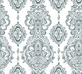 Seamless indian pattern based on traditional Asian floral elements Paisley.