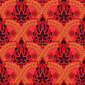 Seamless indian pattern. Bright repeating background in the style of Indian fabrics. Royalty Free Stock Photo